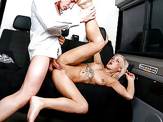 BUMS BUS - Sexy Teen Kathi Rocks Takes It Rough On The Bus