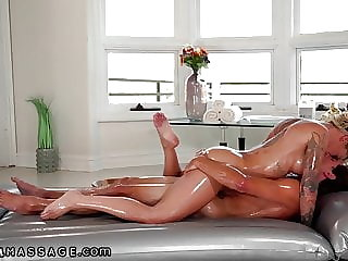 NuruMassage – She Lets Her Stepson Doggystyle Her Oiled Pussy