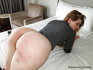 Sassy Blonde Spanked Bare Ass!