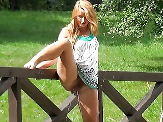 Reality Public Pissing For Stunning Redhead
