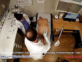 Sandra Chappelle's Student Gyno Exam By Doctor From Tampa On Spy Cam