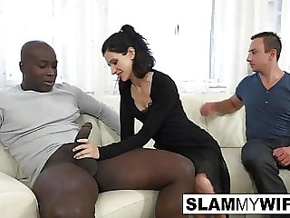 Slutty brunette get ass fucked with her husband
