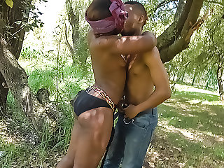 Ebony Amateurs Have Hardcore Sex In Forest