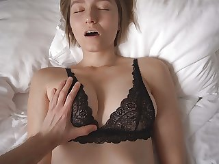 THE SEXIEST PORN WITH TOP MODEL IN BLACK LACE BRA