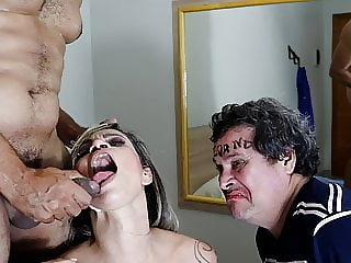I got sperm makeup for my cuckold to lick clean