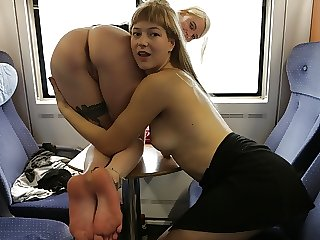 Two hot girls, 2 fat strap-ons & countless positions
