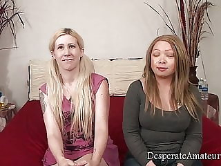 Casting compilation, Desperate Amateurs, BBW with big tits has her first time