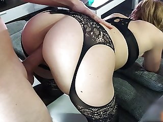 Tight Milf fucked on the couch
