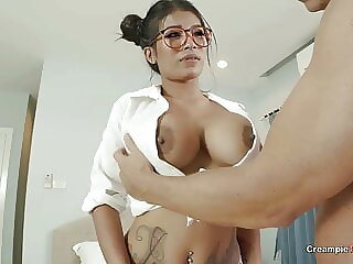 Asian With Big Silicone Tits Creampied By Foreign Man