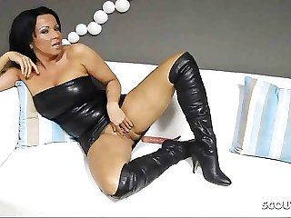 German Dirty Talk Dildo Session with Desperate Housewife