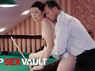 PINUP SEX - Sexy Kattie Gold Has Pool Table Fun With Sugar Daddy