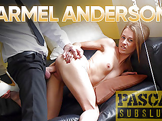 PASCALSSUBSLUTS - Skinny Carmel Anderson Spanked And Fucked