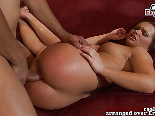 British babe gets hardcore anal in her asshole