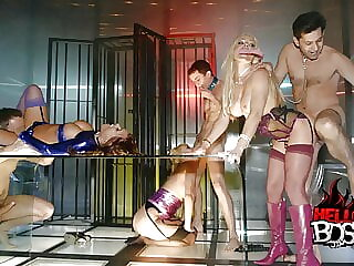 Hot BDSM Chained Up Sex Orgy