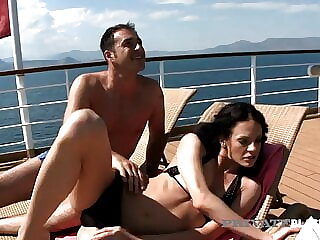 Private Black - Aliz And Her Hubby Fuck Their BBC Waiter!