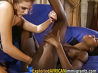 Interracial Lesbian Fisting at Swingers Party