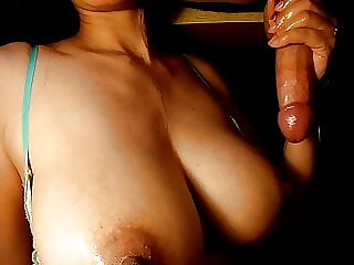I Milk 2 of the Biggest Cumshots ever onto my Tits