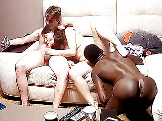 Young Couple Invited Black Friend to Visit for Hard threesome