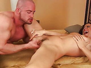 Hot milf squirts for the first time