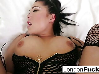 POV anal sex with hot London Keyes