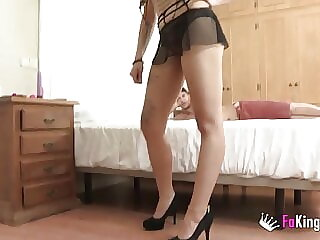 Rasta girl's tight ass gets SHAFTED by an enormous cock!