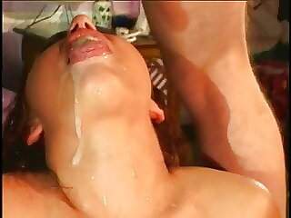 Two horny men scored gorgeous brunette to have threesome