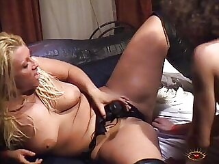 Extreme fucking with chubby blonde into all holes!