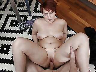 SHAME4K. Hot BBW forgets about age when approached