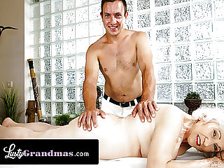 Curvy Granny Can't Get Enough Cock During Her Massage