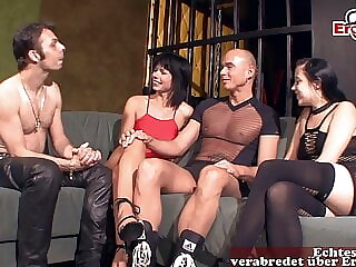 German amateur swinger party with normal housewives