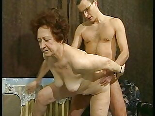 67yo Granny and her German Soldier Neighbor