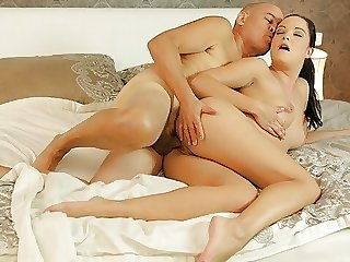 DADDY4K. Hungry belle penetrated with old dick