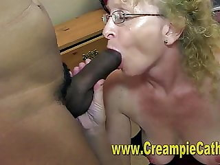Sloppy Cougar Creampie