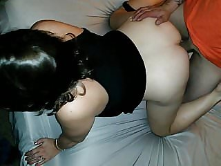 Friend spitroast wife cums in her pussy hubby goes second