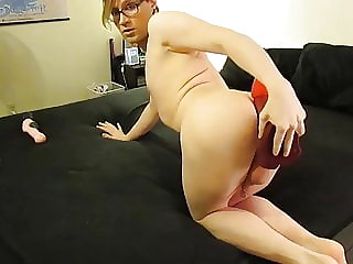 Femboy Twink plays with 3 Toys
