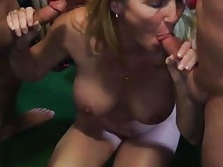 cuckold Watching the Wife suck Two Cocks