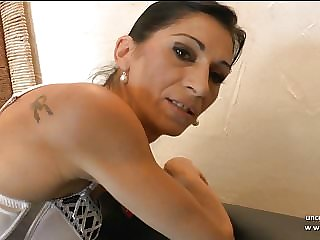 Skinny french milf ass pounded with cum in mouth for casting