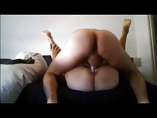 A slim young pussy lubricant flows out and gets a fat cock.