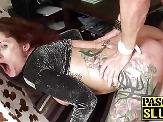 Tattooed Tallulah gets her anus nailed