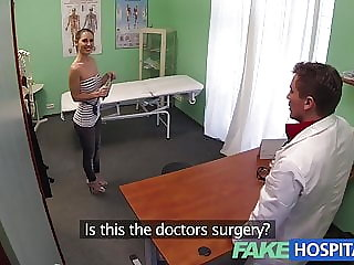 FakeHospital Sexy British patient swallows doctors advice