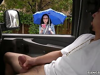 Scarlett picked up and fucked in the BangBus