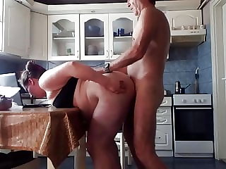 milf amateur woman kitchen