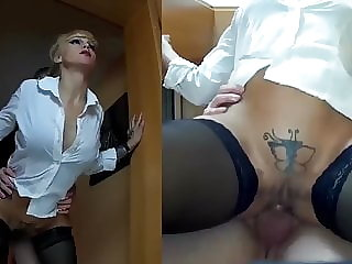 Blonde milf hooker blowjob and anal