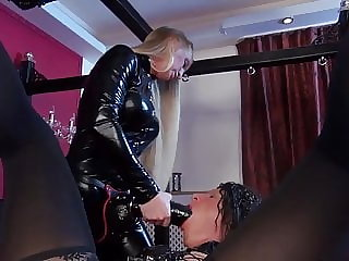 Lady KacyKisha - Big Strapon for the TV-Slut