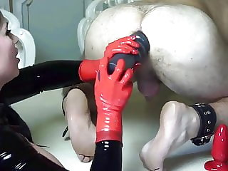 Latex Mistress Multiple Anal Insertations