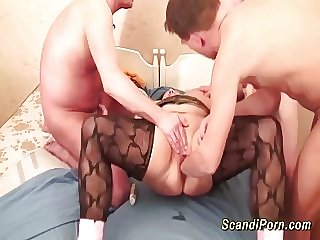 bbw scandinavian moms first rough fisting lesson