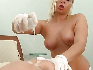 Gorgeous brunette in extreme anal play