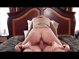 Hot milf fuck and footjob