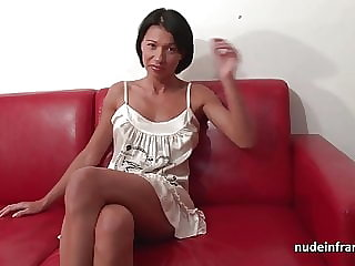 Pretty big boobed milf hard anal fucked for her casting