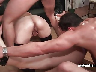 French anal amateur orgy